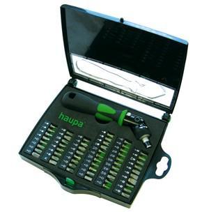 Отвертка с трещоточным механизмом HAUPA 104006 55 предметов двухкомпонентная отвертка ph0 haupa 101684