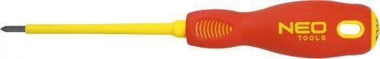 Отвертка NEO 04-073 крестовая Philips PH2x100мм 1000V, CrMo крестовая отвертка neo ph2x150 мм crmo 04 007