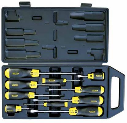 Набор отверток крестообразная шлицевая Stanley 2-65-005 набор отверток stanley cusion grip 10шт в футляре 2 65 005
