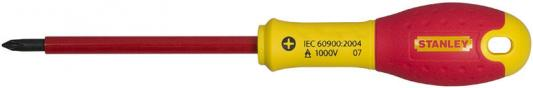 Отвертка STANLEY FATMAX 0-65-416 электрика 1000V PH2*125мм отвертка крестовая stanley fatmax ph2 х 30 мм