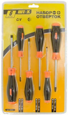 Набор отверток SHTOK. 09902 6шт блистер набор домашнего мастера в органайзере shtok 07006