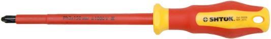 Отвертка SHTOK. 09208 1000в sl3.0x150мм диэлектрические изогнутые тонкогубцы shtok 1000в 160 мм 08107