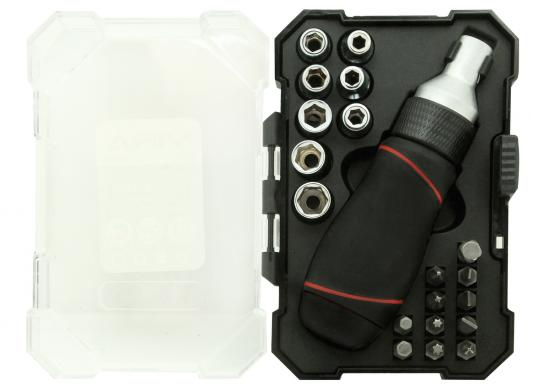 цена на Набор бит VIRA 305080 набор головок и бит с реверсивным держателем 21 предмет