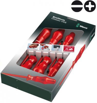 Набор отверток шлицевая крестообразная диэлектрическая Wera WE-031282 набор инструментов wera we 057690