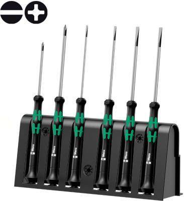 Набор отверток WERA WE-118152 для электронщиков + подставка 6 предметов набор г образных ключей wera we 021406