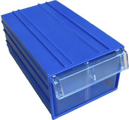 Короб СТЕЛЛА С-2 синий/ прозрачный  пластик 140х250х100мм