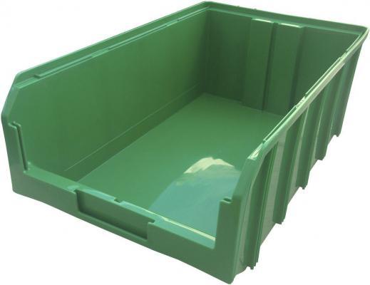 Ящик СТЕЛЛА V-4, зеленый пластик 502х305х184мм