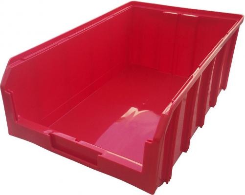 Ящик СТЕЛЛА V-4, красный пластик 502х305х184мм
