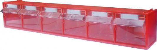все цены на Короб СТЕЛЛА FOX-102 откидной красный/прозрачный 6ячеек онлайн