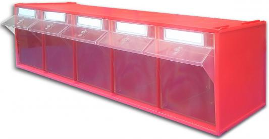 Короб СТЕЛЛА FOX-103 откидной красный/прозрачный 5ячеек откидной короб 9 ячеек красный прозрачный стелла fox 101