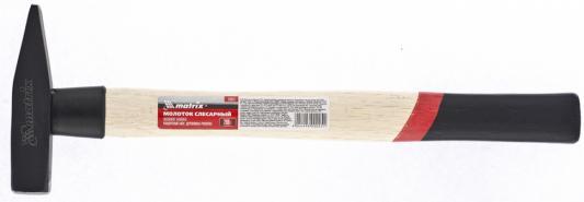 Молоток MATRIX 10227 слесарный 200г квадратный боек деревянная рукоятка слесарный молоток matrix 10230