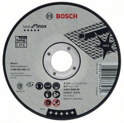 Круг отрезной BOSCH Best for Inox 230x2,5x22 (2.608.603.508) по нержавеющей стали