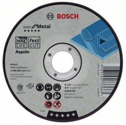 Круг отрезной BOSCH Best for Metal 115x1,0x22 (2.608.603.512) по металлу