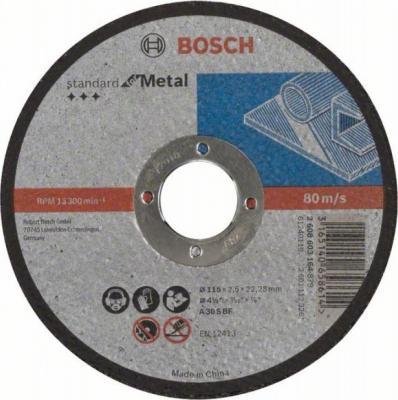 Круг отрезной BOSCH Standard for Metal 115x2,5x22 (2.608.603.164) по металлу цена