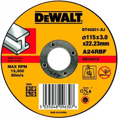 Картинка для Круг отрезной DeWALT DT42201-XJ для УШМ 115х22.2х3.0мм тип 1 плоский  по металлу