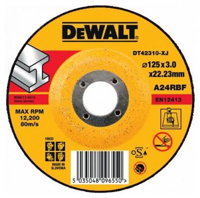цена на Круг отрезной DeWALT DT42310-XJ для УШМ 125х22.2х3.0мм тип 27 изогнутый по металлу