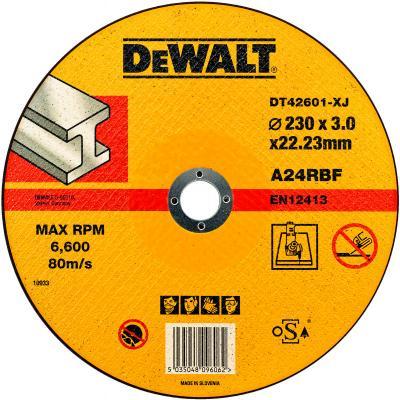 цена на Круг отрезной DeWALT DT42601-XJ для УШМ 230х22.2х3.0мм тип 1 плоский по металлу