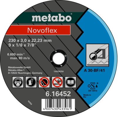 Круг отрезной METABO 616450000 Novoflex 180x3.0мм прямой А30 по металлу
