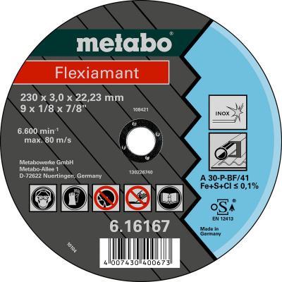 Круг отрезной METABO 616738000 Flexiamant 125x2.5мм прямой А30Р по нержавеющей стали отрезной круг metabo flexiamant s 350x3x25 4 прямой a24m 616338000