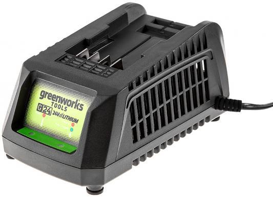 Зарядное устройство GREENWORKS G24C 2913907 (2903607) 24в g24 220В время заряда 2Ач 30мин / 4Ач 60м пенал milan super heroes green 081133shk 259004