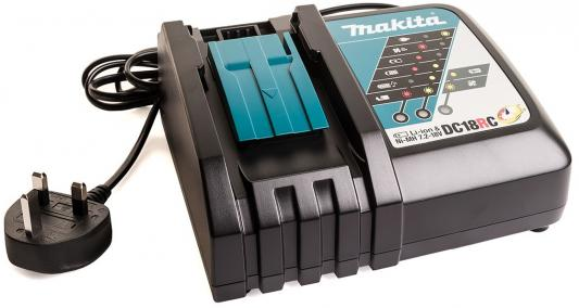 Зарядное устройство MAKITA DC18RC 7.2-18В Ni-Mh 14.4-18В Li-ion аккумулятор makita 18в 3ач li ion вl1830 197600 6