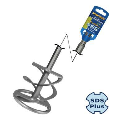 Насадка для перемешивания ПРАКТИКА 779-585  120х600мм, хв.SDS+, гипс, клей д/плитки