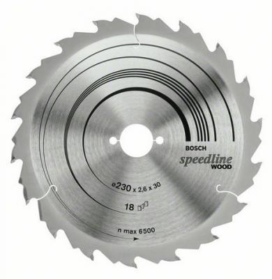 Диск пильный BOSCH Speedline Wood 160x18x20 (2.608.640.787) 160x18x20 диск пильный bosch multimaterial 2608640510