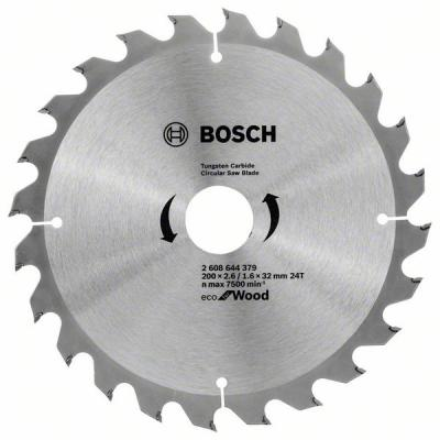 Диск пильный твердосплавный BOSCH ECO WO 200x32-24T (2.608.644.379) по дереву диск пильный твердосплавный cmt 291 270 42m