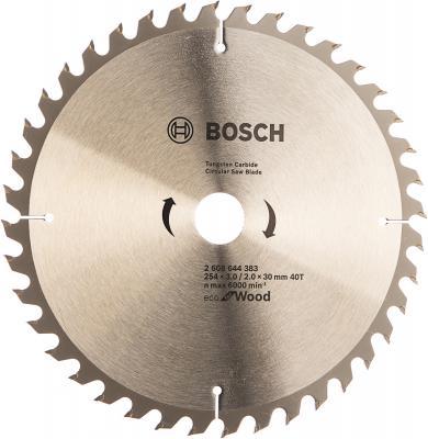 Диск пильный твердосплавный BOSCH ECO WO 254x30-40T (2.608.644.383) по дереву пильный диск eco wood 254x30 мм 40t bosch 2608644383