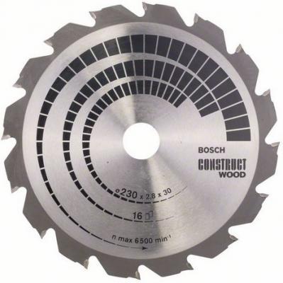 Круг пильный твердосплавный BOSCH 2608640635 230х30мм 16 CONSTRUCТ