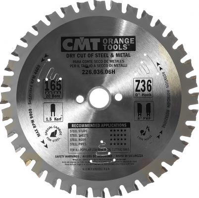 Круг пильный твердосплавный CMT 226.036.06H 165X20X1.5/1.2 0° FWF Z=36 цена