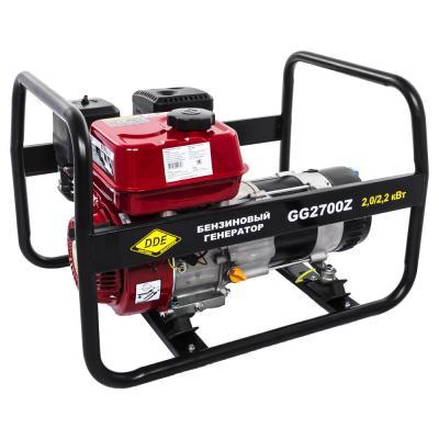 Генератор бензиновый DDE GG2700Z однофазн.ном/макс. 2,0/2.2 кВт (DDE UP168, т/бак 3.6л, ручн/ст, 38