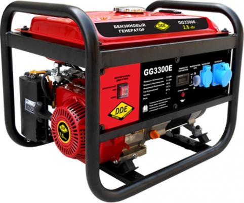 Генератор бензиновый DDE GG3300E однофазн.ном/макс. 2,8/3.1 кВт (UP170, т/бак 15л, эл/ст, 47кг) бензиновый генератор dde gg1300