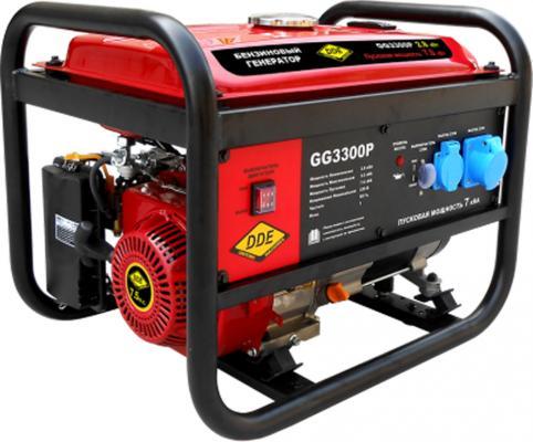 Генератор бензиновый DDE GG3300P одноф. .ном/макс./пиков. 2,8/3.5/7,0 кВт (SC170, т/бак 15л, ручн/ст генератор dde dpg2101i бензиновый