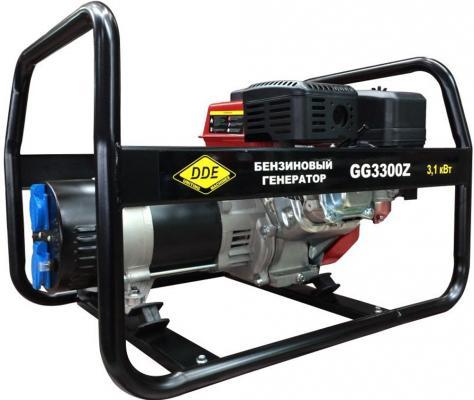 Генератор бензиновый DDE GG3300Z однофазн.ном/макс. 2,8/3.1 кВт (DDE UP170, т/бак 3.6л, ручн/ст, 42к бензиновый генератор dde dpg2551