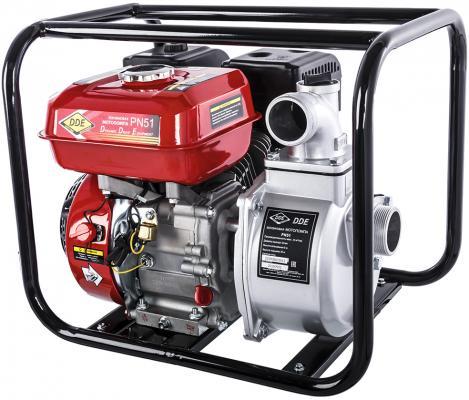 Мотопомпа бензиновая DDE PN51 (вых 50мм 5 лc,,25 м куб/час, т. бак3,6л,24кг) газонокосилка бензиновая dde lm 51 увертюра несамоход с выбросм 51см dde 139 куб см 4 0л