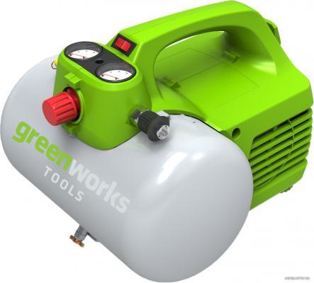 Компрессор Greenworks GAC6L 0,3кВт компрессор greenworks 230v gwactl 4101607
