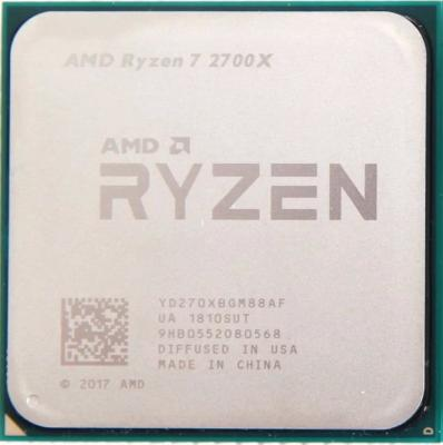Процессор AMD Ryzen 7 2700X YD270XBGM88AF Socket AM4 OEM процессор amd ryzen 7 1700x yd170xbcm88ae socket am4 oem