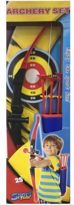 Лук Toy Target Лук и стрелы с колчаном красный черный 55012