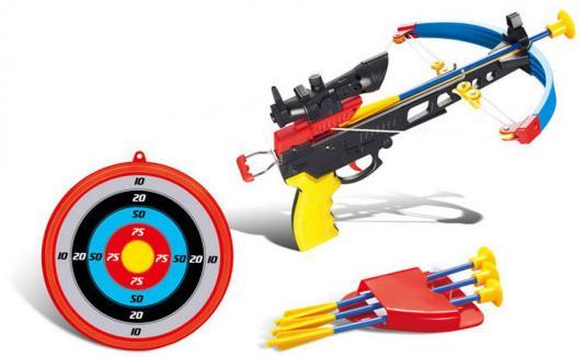 Купить Арбалет Toy Target Арбалет со стрелами синий черный красный желтый 55033, черный, красный, синий, желтый, 33?47?6 см, для мальчика, Игрушечное оружие