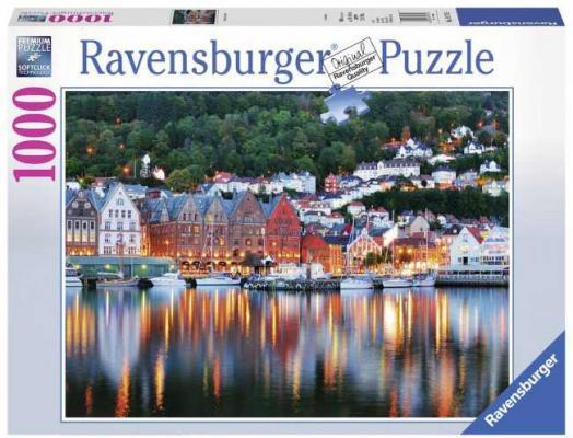 Пазл «Берген, Норвегия» 1000 шт пазл ravensburger озеро эйб 1000 элементов