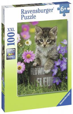"""Пазл """"Котёнок и цветы"""" XXL 100 шт пазл ravensburger пазл горные цветы 3000 шт"""