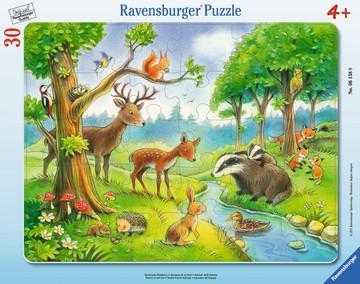 Пазл Ravensburger Лесные животные 30 элементов кольцо с бриллиантами из желтого золота valtera 39956