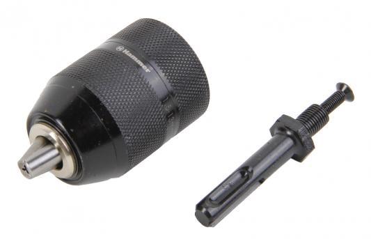 Патрон самозаж. Hammer Flex 208-205 CH-4 3,8-24UNF 1,5-13мм, МЕТАЛЛ + переходник SDS+