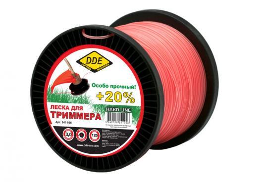Леска для триммеров DDE 241-956 круг армированный 3.0ммх120м серый/красный