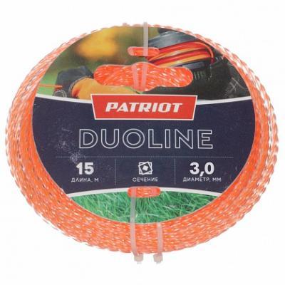 Купить Леска для триммеров Patriot Duoline D 3, 0мм L 15м
