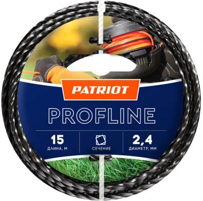 Фото - Леска для триммеров PATRIOT Profline D 2,4мм L 15м скрученный квадрат, черный 240-15-5 пенал dakine lunch box 5 l augusta
