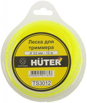 Леска HUTER TS3012 Ф3мм 12м сечение витой квадрат