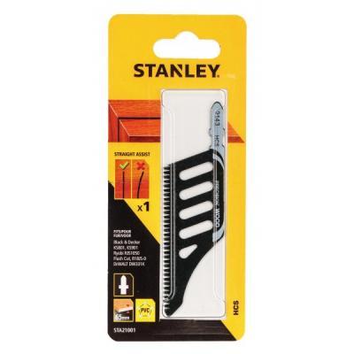 Пилки для лобзика STANLEY STA21001-XJ по дереву HCS чистый допиливающий пропил заподлицо 1 шт бита stanley sta61021 xj ph2х25мм 2 шт