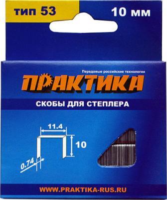 все цены на Скобы для степлера ПРАКТИКА 037-305 10мм 11.4мм 1000шт.